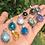 Thumbnail: Natural Gemstones Silver Plated Pendants Mix Styles
