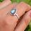 Thumbnail: Natural Labradorite Pear Shape 925 Silver Ring
