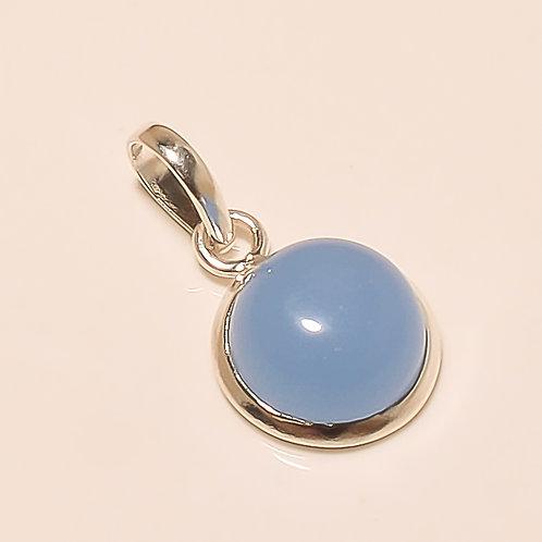 Chalcedony Gemstone Sterling Silver Pendant