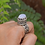 Thumbnail: Vintage Moonstone Ring 925 Sterling Silver Ring