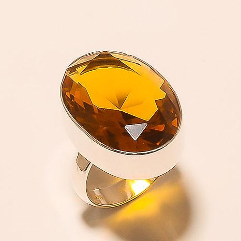 Golden Topaz Sterling Silver Ring