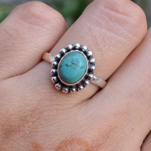 925 Silver Natural Turquoise Ring