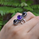 Thumbnail: 925 Sterling Silver Amethyst And Black Onyx Ring