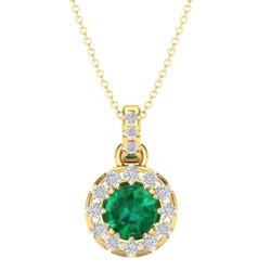 emerald gold pendant, may brithstone pen