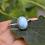Thumbnail: Natural Larimar 925 Silver Dainty Ring
