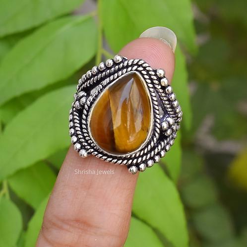 925 Sterling Silver Tiger-Eye Ring