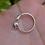 Thumbnail: Natural Round Garnet 925 Silver Moon Ring