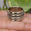Thumbnail: Spinner Ring, Solid 925 Sterling Silver Anxiety Ring, Fidget Ring