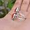 Thumbnail: 925 Sterling Silver Carnelian Pear Ring