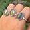 Thumbnail: 925 Sterling Silver Oval Labradorite Ring
