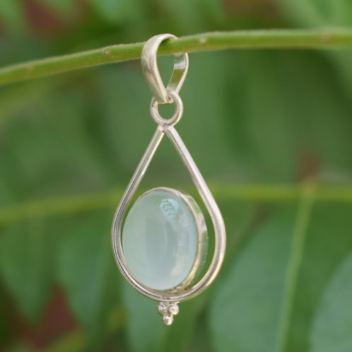 Chalcedony Sterling Silver Pendant