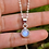 Thumbnail: Moonstone Round Shape 925 Silver Necklace