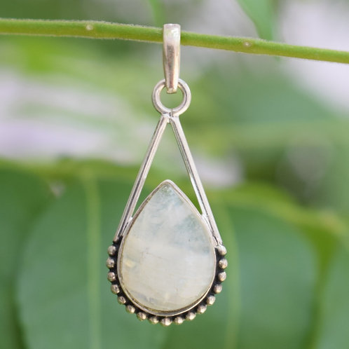 Moonstone Sterling Silver Oxidized Pendant