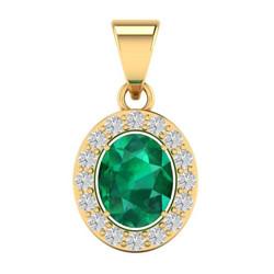 emerald gold pendant may birthstone jewe