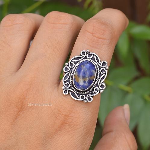 925 Sterling Silver Sodalite Ring