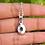 Thumbnail: Moonstone Oval Shape 925 Silver Necklace