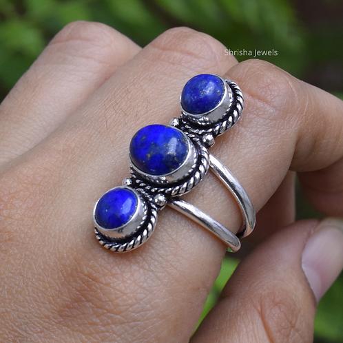 925 Sterling Silver Lapis Lazuli Ring