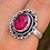 Thumbnail: 925 Sterling Silver Ruby Ring