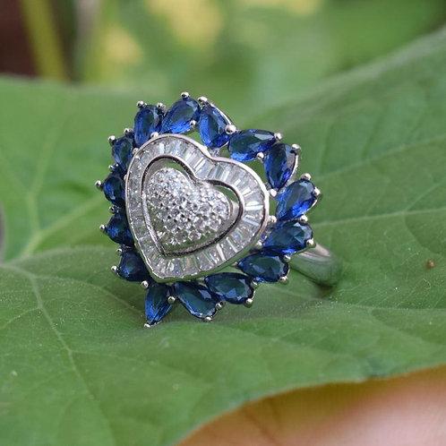 Tanzanite Gemstone Ring 92.5 Sterling Silver Tanzanite Gemstone Silver R
