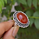 Thumbnail: 925 Sterling Silver Red Onyx Ring