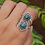 Thumbnail: Handmade Flower 925 Silver Ring