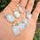 Thumbnail: Natural Moonstone Silver Plated Pendants Mix Styles