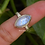 Thumbnail: Natural Moonstone Marquise Shape 925 Silver Ring