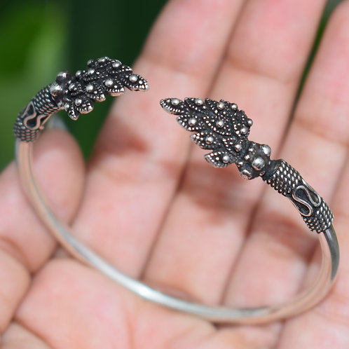 Sterling Silver Oxidized Stylish Bracelet