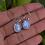 Thumbnail: Natural Oval Moonstone 925 Silver Earrings