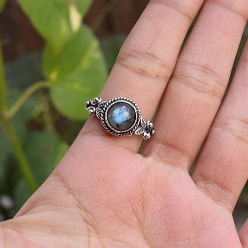 925 Sterling Silver Semi Precious Gemstone  Ring