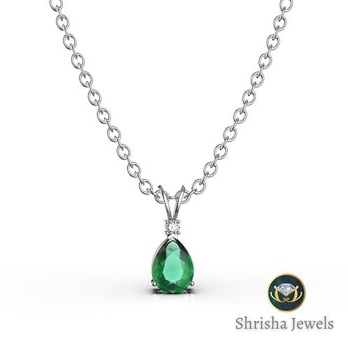 Zambian Emerald Pendant • 14k Gold Pendant • May Birthstone Pendant