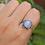 Thumbnail: Vintage Moonstone Ring 925 Sterling Silver Ring