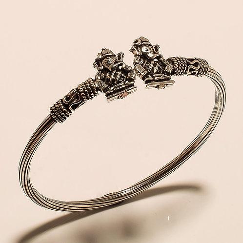Sterling Silver Lord Ganesha Oxidized Bracelet