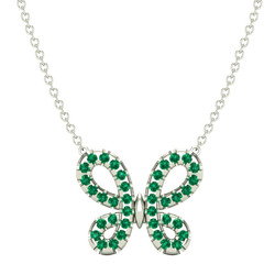 emerald pendant, may birthstone necklace