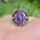 Thumbnail: 925 Sterling Silver Amethyst Ring