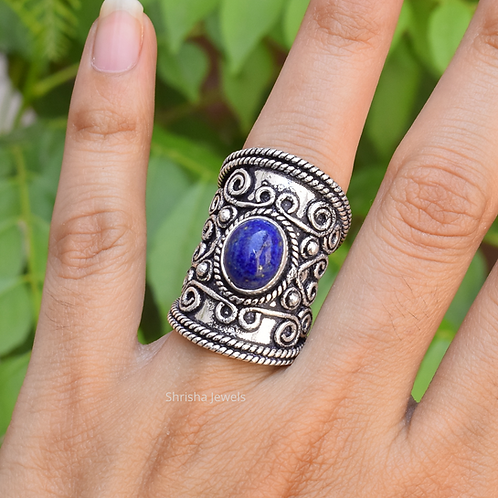 925 Sterling Silver Lapis Ring