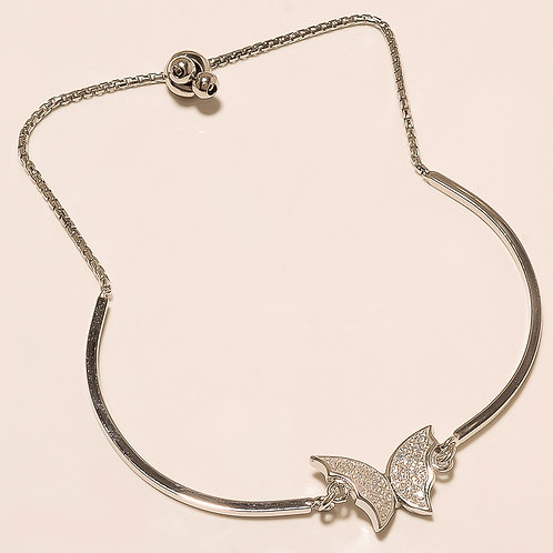 Sterling Silver Butterfly Shape Pretty Bracelet