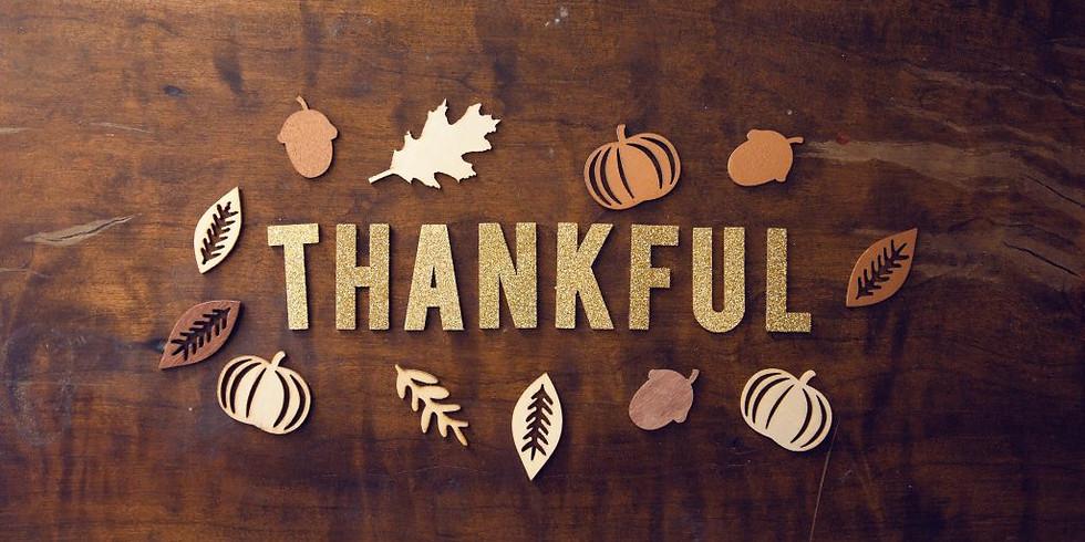 Thanksgiving Worship Service & Potluck