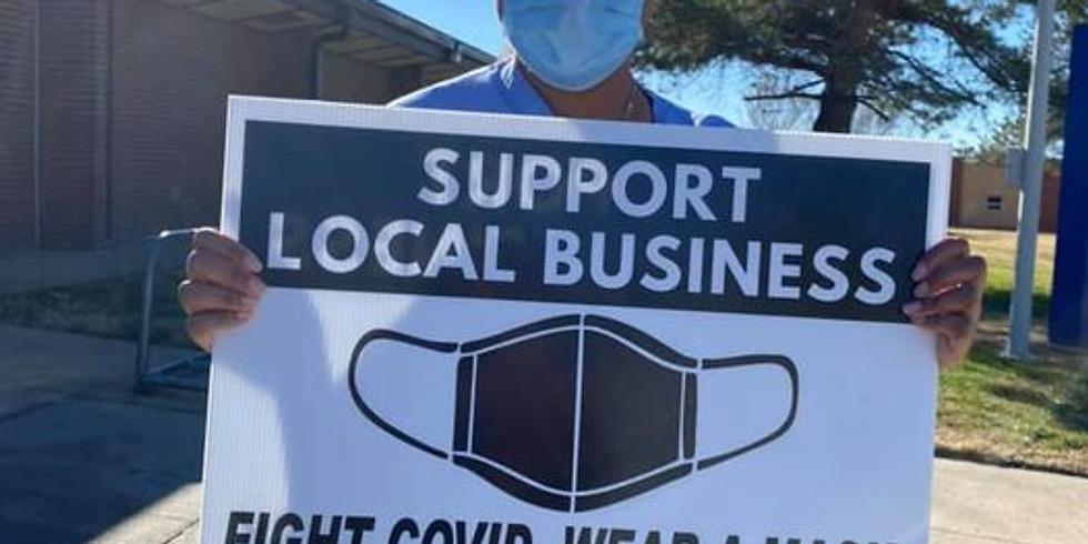 Free Mask and Yard Sign Distribution