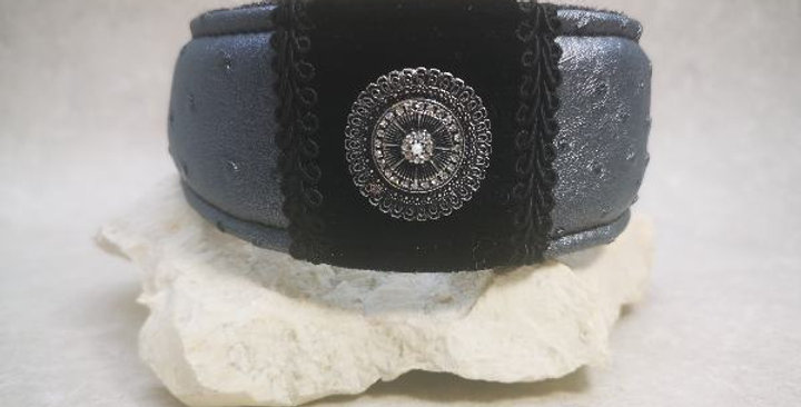 HU  31 cm -mit Kettenzugstopp - veganes Leder