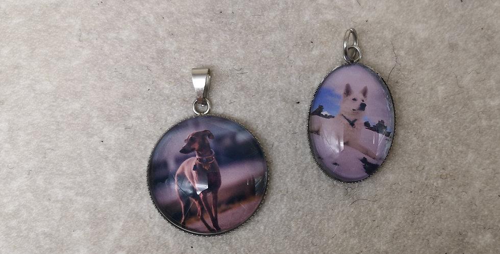 Unikati Edelstahl,  Messing  oder Holz Amulett mit eigenem Foto
