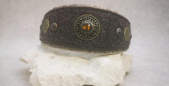 HU 30 cm -mit Kettenzugstopp - Wohlfühlhalsung Filz