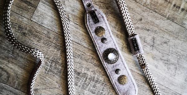 Schnallenverschluss HU 23 - max. 26 cm verstellbar   ARTST Lederhalsun