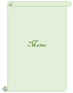 Menu book (nutrition infos seperate or nutrition table at the end of the book)