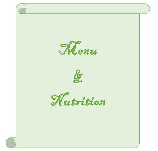 Menu with displayed nutrition infos