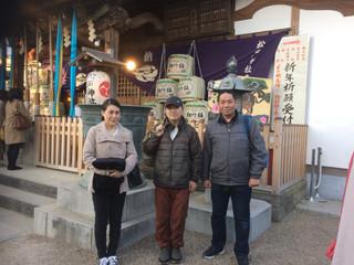 松戸神社に初詣にいきました