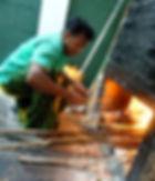 Feuer zur Ayuvedaölherstellung