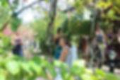 Zeremonie im Ayurveda-Garten