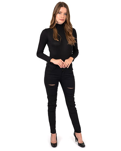 Clifton Ripped High Waisted Skinny Jeans