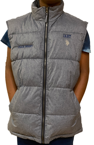 Bubble Vest - Embroidered (Gray)